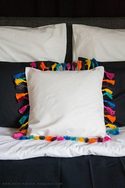 Bedroom #Schlafzimmer #Vorhang #Curtain #Betthaupt #Selbstgemacht - vorhänge im schlafzimmer