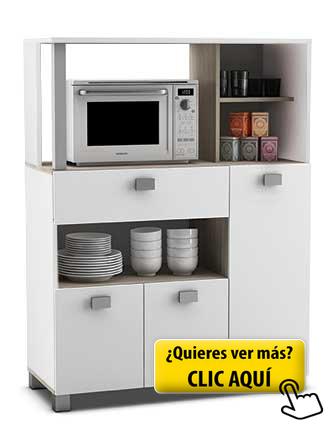 Mueble auxiliar de cocina en color blanco con un... #mueble #cocina ...