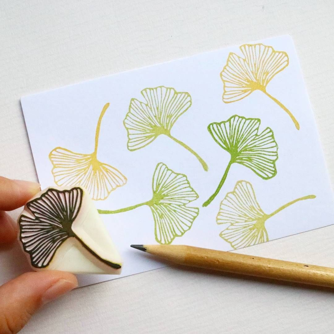 "Jiahui Zheng on Instagram: ""You guys from the Northern hemisphere keep saying that Fall has arrived, so I made this little Gingko leaf! Soon they'll turn a beautiful…"""