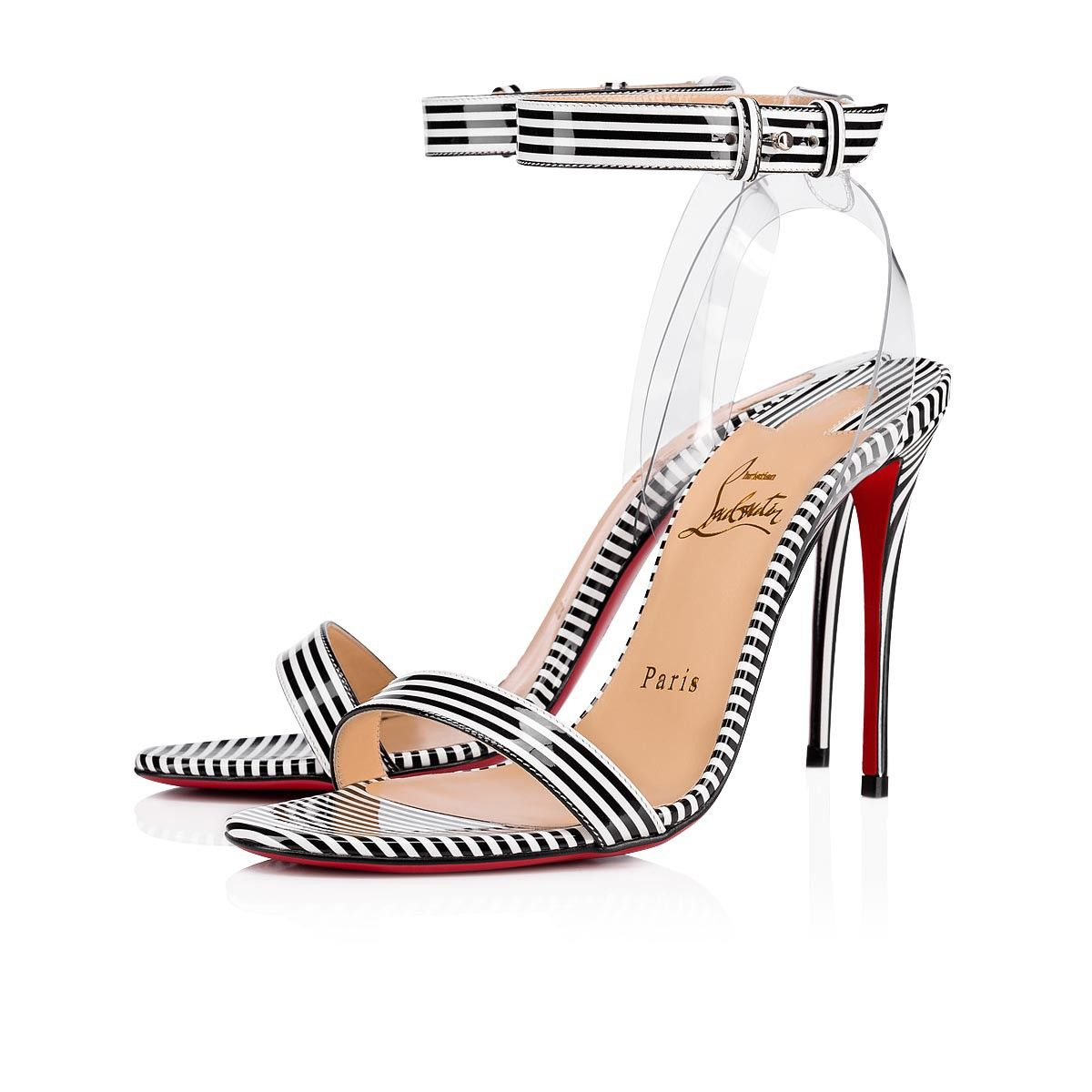 Styled With A Leg Lengthening 100mm Stiletto Heel Christian Louboutin S Jonatina Sandals Are An Exquisite Demonstration Christian Louboutin Women Shoes Heels