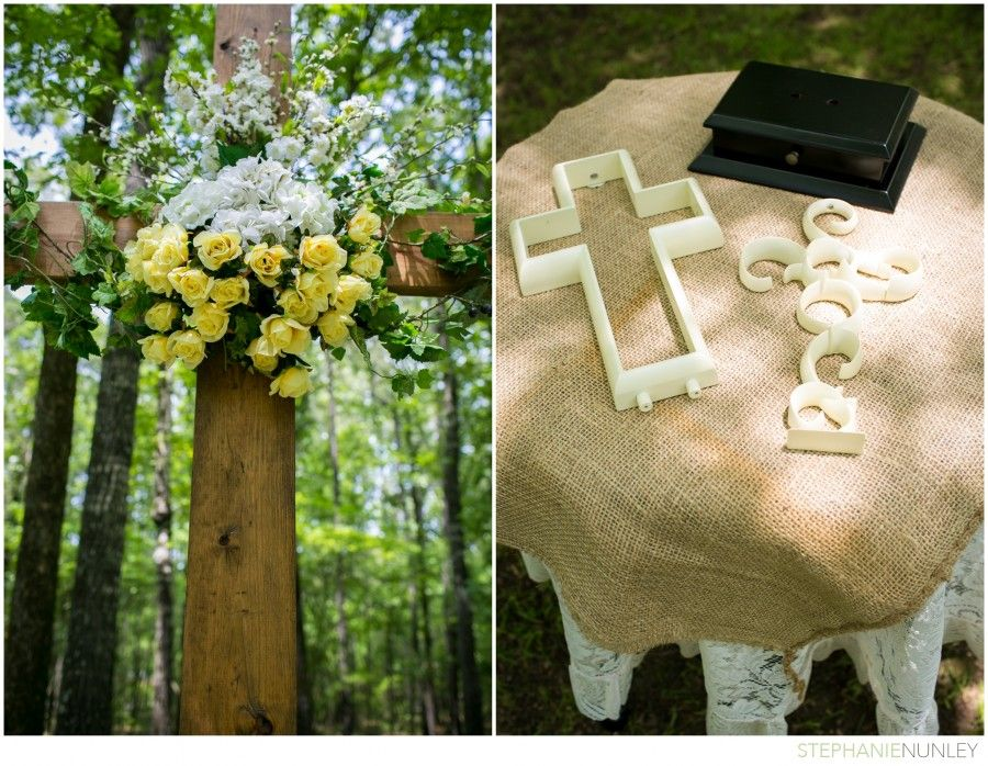 Wonderful Christian Wedding Ideas: Cross Altar And Unity Cross Ceremony.