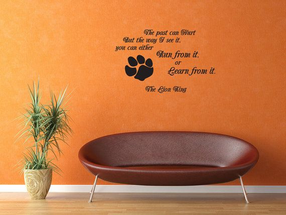 But The Way I See It The Lion King Vinyl Decal Quotes Wall Sticker Wall Art Wall  Decals Wall Quote (J135) Part 38