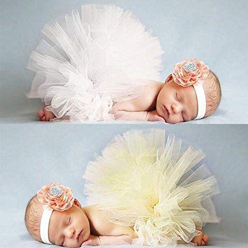 Cravog Foto Fotografie Prop Baby Kostum Madchen Gelb Tutu Kleid