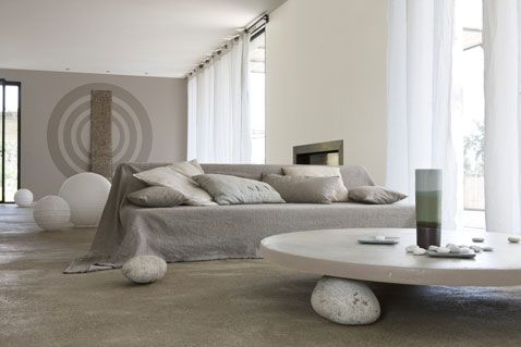 couleurs salon harmonie de gris et blanc peinture Epure gamme ...
