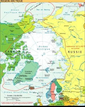 Carte Canada Region.L Isotherme A 10 C Du Mois De Juillet Ligne Rouge Qui Definit La