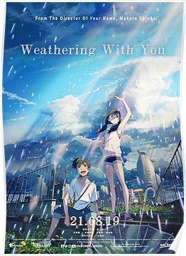 Weathering With You Poster by HipHopBoys in 2021 Anime