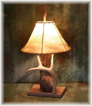 Weathered Log Antler Lamp I Want To Make This Lamp Deer Antler Lamps Antler Lamp Lamp