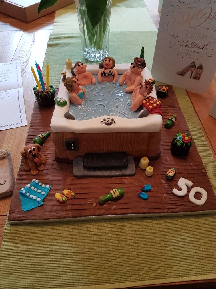 Hot Tub Cake Pool cake, Pool party cakes, Swimming cake