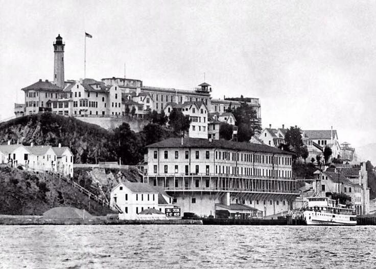 A View From The 1930 S Of The Alcatraz Island And Penitentiary In