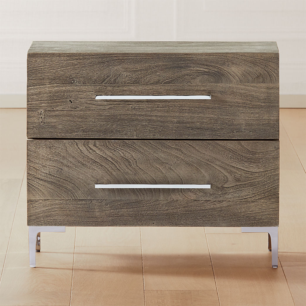 modern nightstands and bedside tables cb2 in 2020 nightstand grey wood table shoji panel room divider