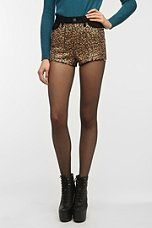 BDG High-Rise Sequin Embellished Cheeky Short