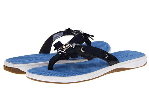 Sperry Top-Sider Serena Fish Navy/Patent -  Love them, but I would never pay $60 for flip flops.