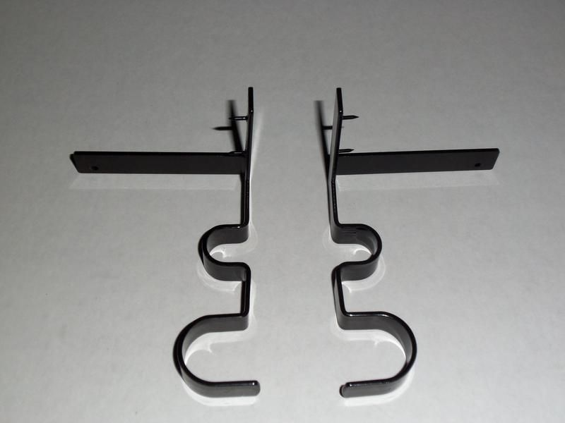 New Curtain Rod Brackets Double Curtain Rod Brackets Curtain