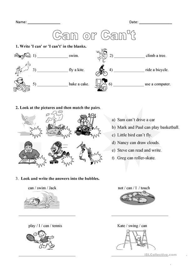 Magnificent Printable Kindergarten English Worksheet For Worksheets ...