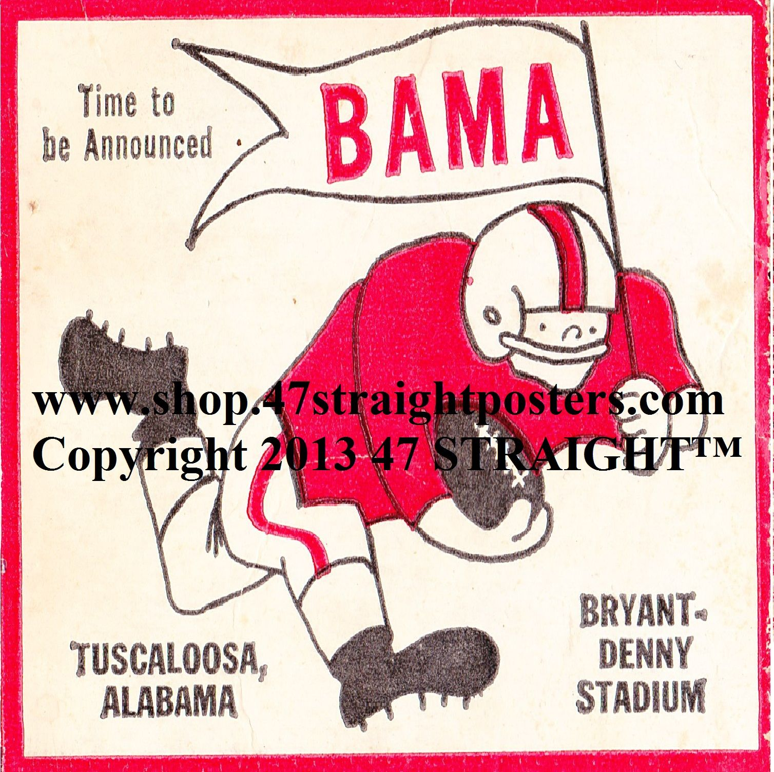 Alabama Football Ticket Coasters ™ Made from authentic game tickets Printed in the U S A