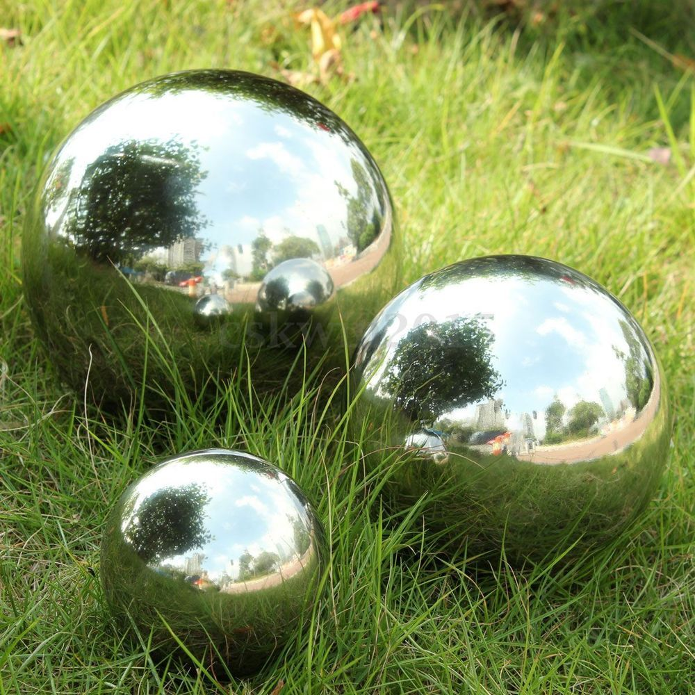 details about 3 size stainless steel mirror sphere hollow ball