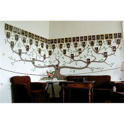 amazing way of tracing your family tree with this great wall decor