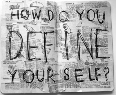 How Do You Define Yourself? Dictionary clippings! This is a great teaching idea - picture only