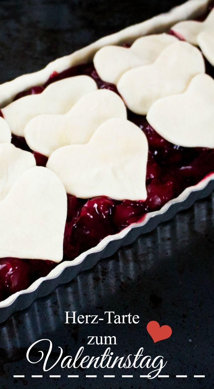 Tarte-rataa! Eine Kirsch-Tarte zum Valentinstag