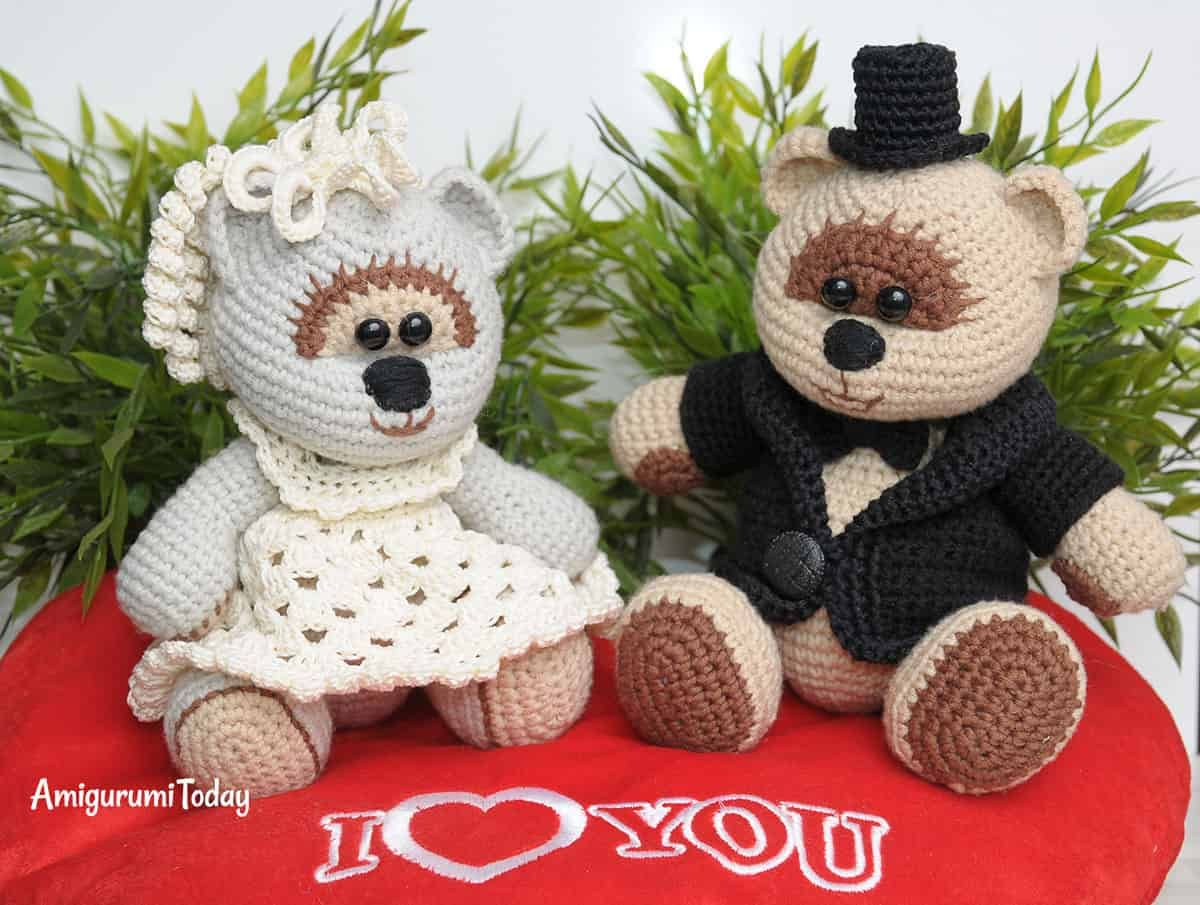 Amigurumi wedding bears: crochet pattern | Crochet wedding, Free ...