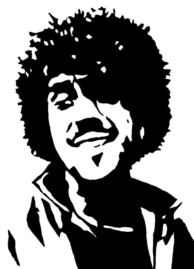 de5df11cc80e Hand Painted Painting - Phil Lynott From Thin Lizzy by Monofaces ...