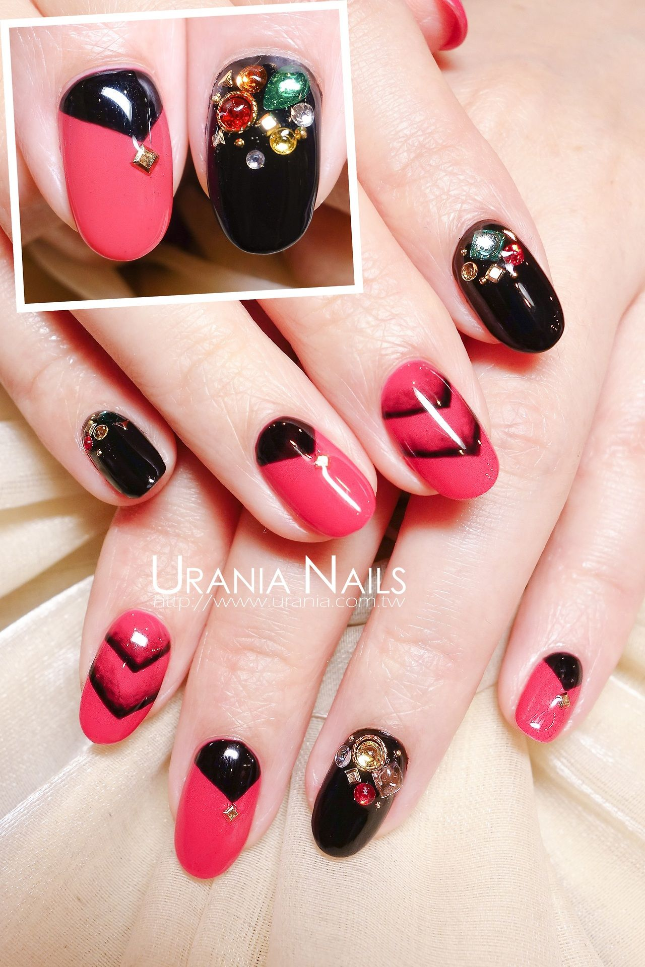 Happy New Year Nails, Gel nail art, Cute nail designs