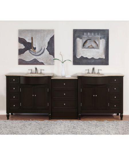 Philander Double 95 inches Bathroom Vanity