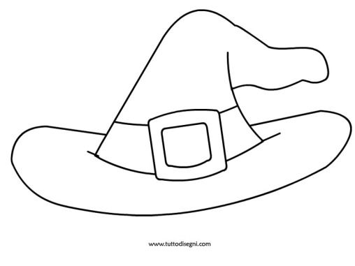 Cappello Strega Da Colorare | Scuola | Pinterest | Strega ...
