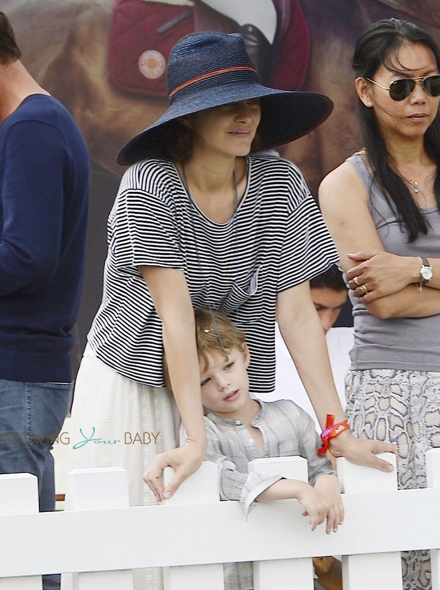 Marion Cotillard And Cute Son Marcel Cheer For Her Husband