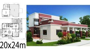 Home Design Plan 19x15m With 3 Bedrooms Home Ideas In 2020 Home Design Plan Small House Design Plans Home Design Floor Plans