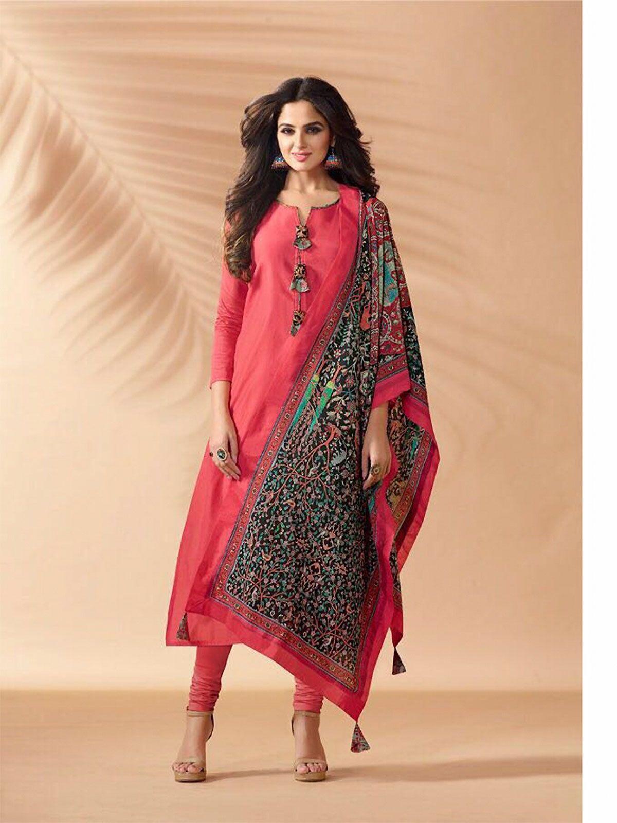 935984c4bc Buy hot pink silk churidar salwar suit online for women ethnic wear in latest  range of