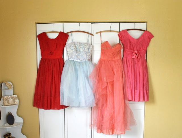 Frothy vintage dresses.