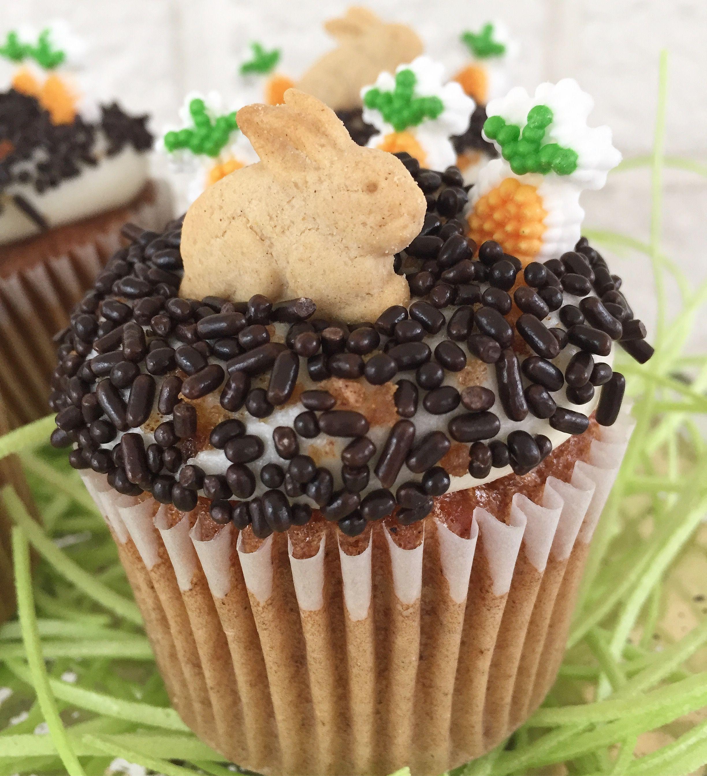 semi homemade carrot cake cupcakes