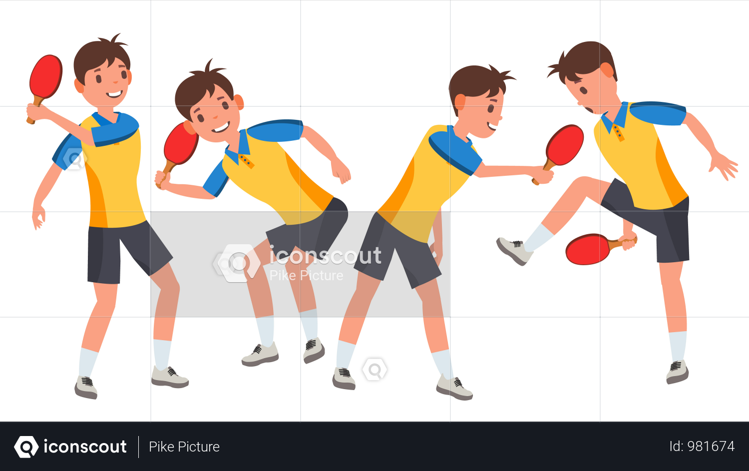 Table Tennis Male Player Illustration Tennis Players Female Table Tennis Professional Tennis Players