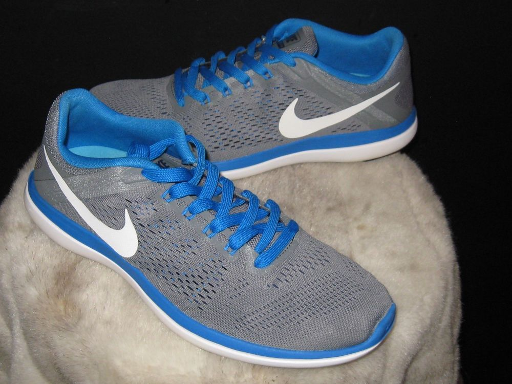 ee6b53173c1fe4 Men s Nike Flex 2016 Run Running Sneakers Sz 10 Gray Royal 830369-004  Nike   RunningShoes