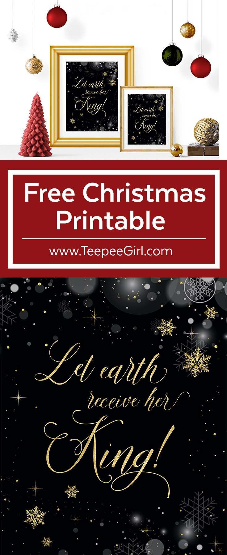 this free christmas printable is the perfect addition to your christmas decor paired with an inexpensive frame it also makes a great gift for friends and