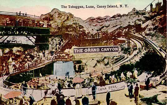 The Grand Canyon Toboggan Railway.