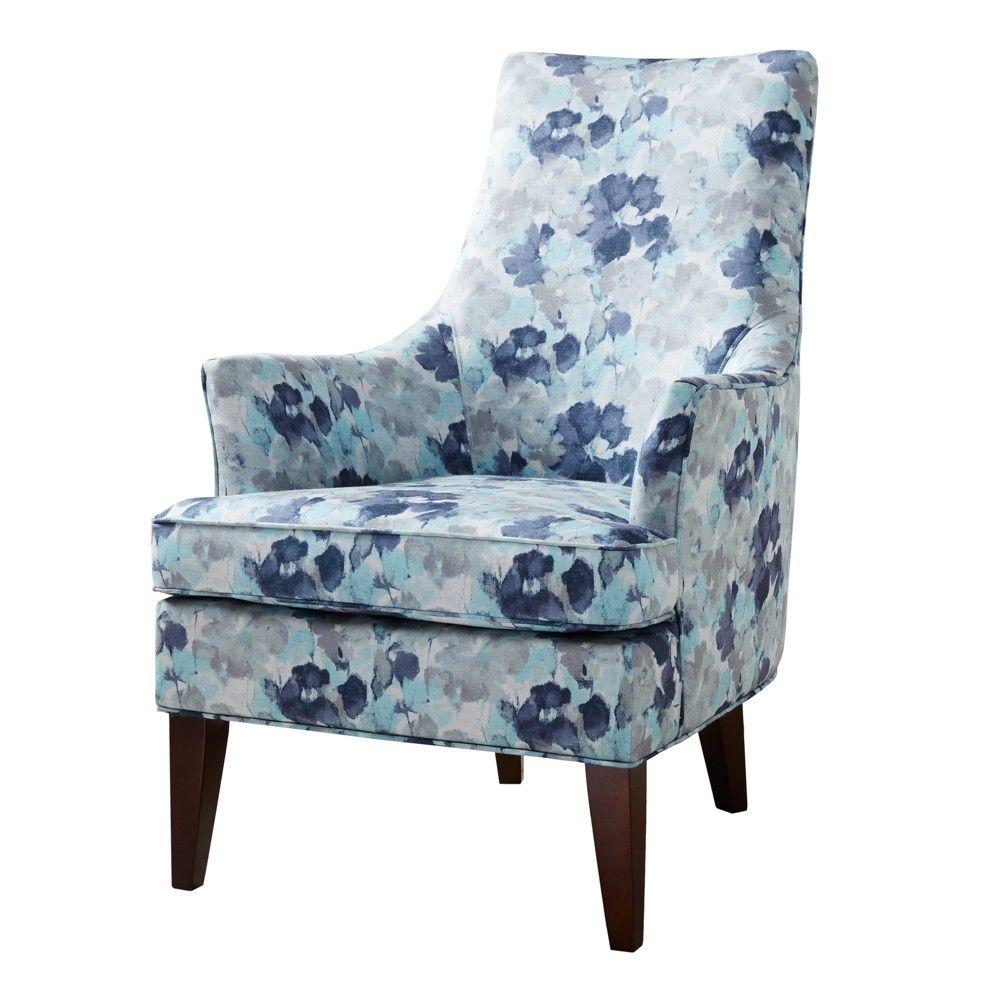Best Bidford Swoop Arm Chair Blue Blue Armchair Chair 400 x 300