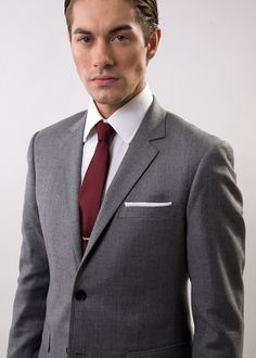 look for wide varieties wholesale sales gray and burgundy tux - Google Search | My Wroderobe ...