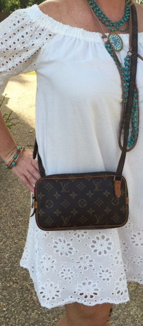 ac3fb5ed295f Authentic Used Louis Vuitton Marly Bandouliere Cross Body or Shoulder Purse  in Monogram