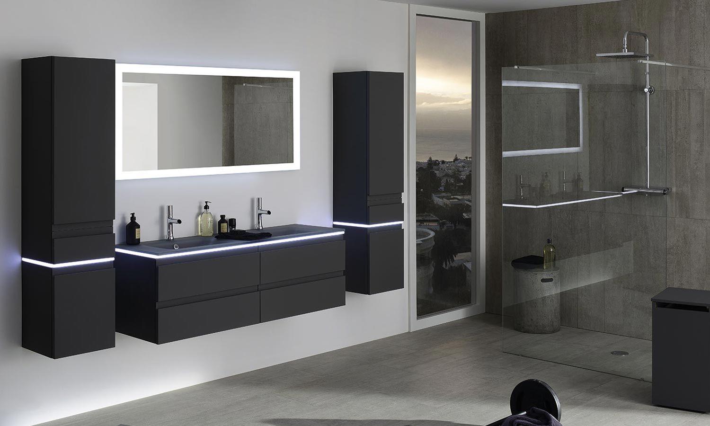pingl par techno conseil bain douche sur meuble salle de bain pinterest clairage led led. Black Bedroom Furniture Sets. Home Design Ideas