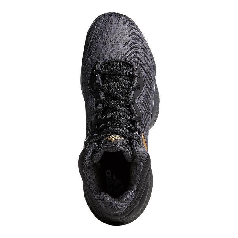 1a059b96f3d6b adidas Men's Mad Bounce 2018 Basketball Shoes - Black/Metallic Gold/Grey