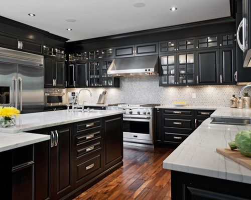 Perfect Black Cabinetry For Elegant Kitchen Look Amazing Pictures