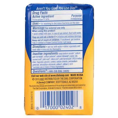 Dial Antibacterial Deodorant Gold Bar Soap 4oz 3pk Each In 2020