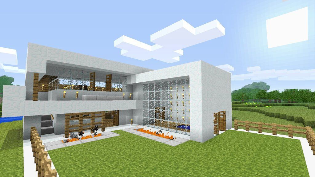 minecraft modern house burntcustards minecraft blog showcase my modern snow house - Minecraft Home Designs
