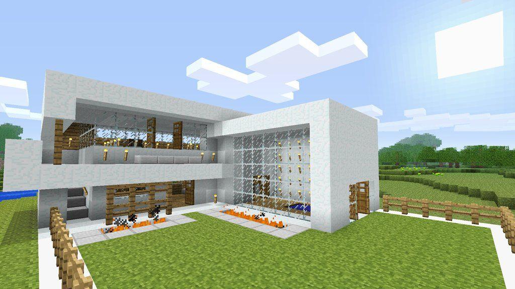 Minecraft modern house burntcustard 39 s minecraft blog for Minecraft moderno