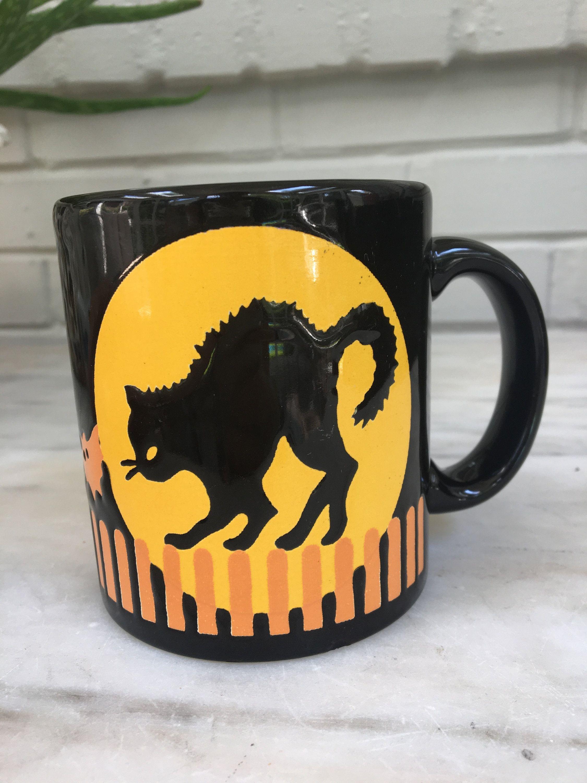 Black Cats Halloween Coffee Mug Tea Cup Brand New