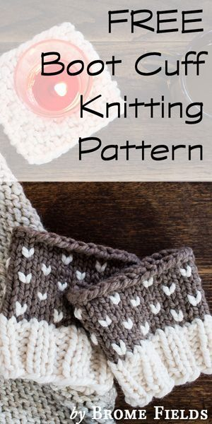 Free Boot Cuff Knitting Pattern By Brome Fields Knitting