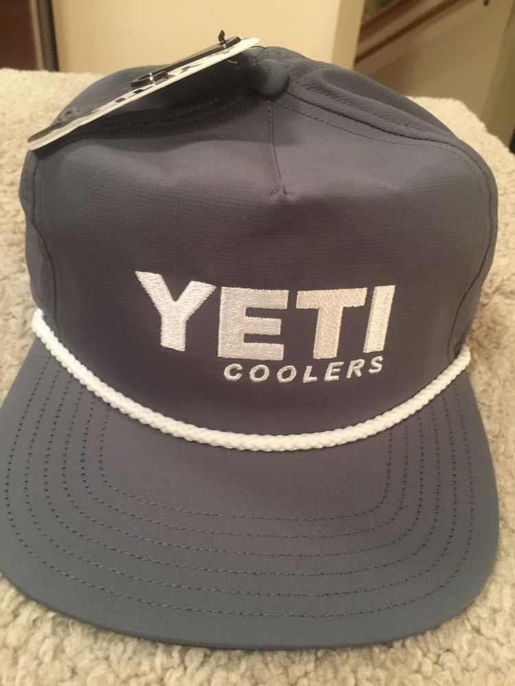 15ac9d1323c NEW Genuine Yeti Coolers Adjustable Rope Boat Trucker Hat Slate Grey   fashion  clothing