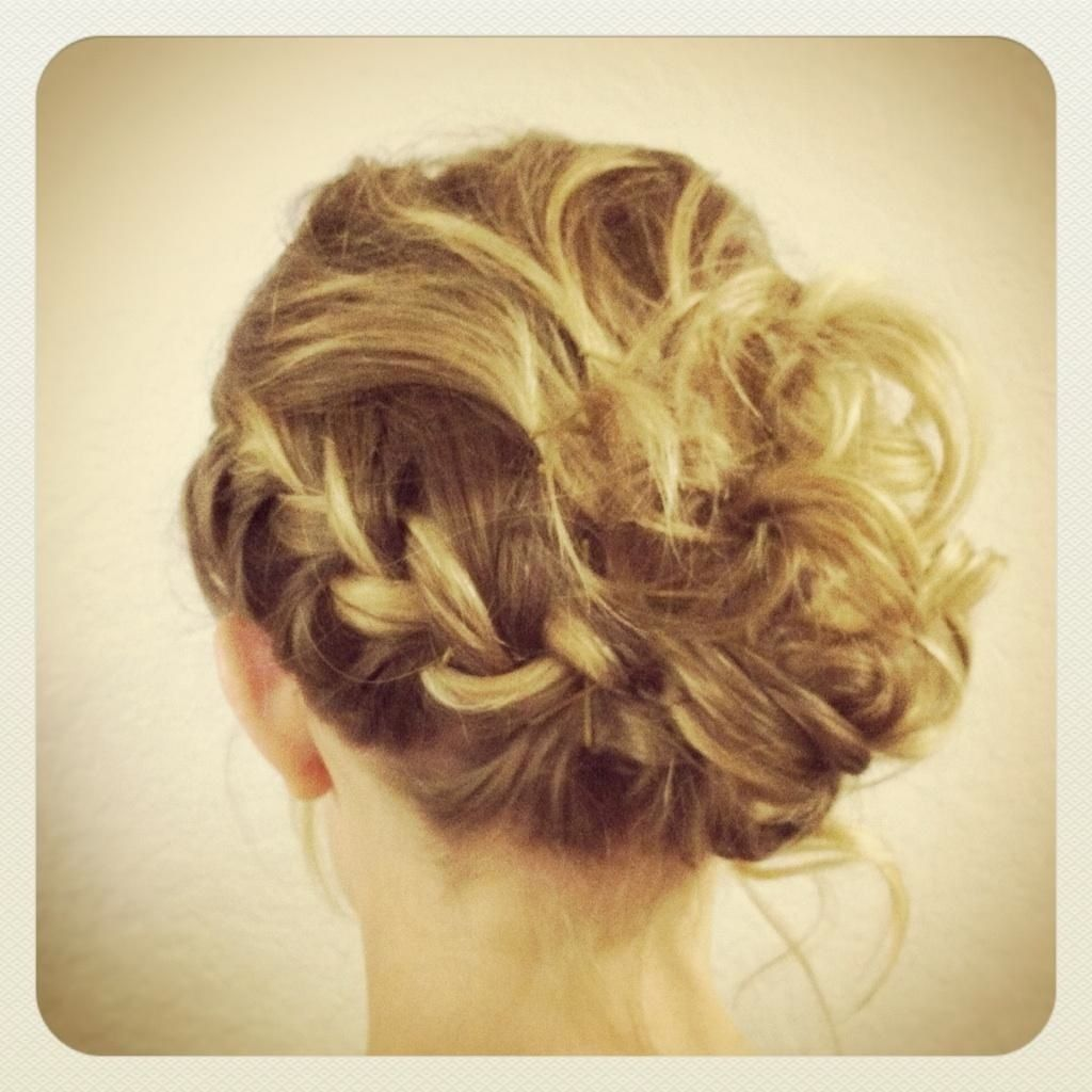 My RA's fabulous hair for Junior Senior Banquet that was done by the equally fabulous Zoe :)